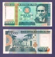 PERU 1988 UNC Banknote  10.000 Intis - Peru