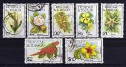 Trinidad & Tobago - 1985/89 - Flowers (Part Set, Multiple Crown Script CA Watermark) - Used - Trinité & Tobago (1962-...)