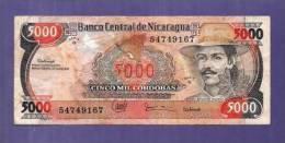 Nicaragua  Used VF  Banknote  5.000 Cordobas - Nicaragua
