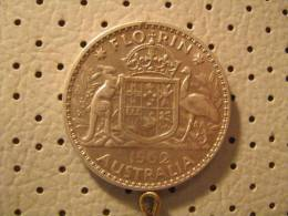 AUSTRALIA 1 Florin 1962 - Sterling Coinage (1910-1965)