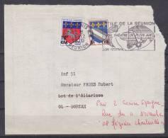= 4 12 1970 N°346A Troyes Et 386 Saint Lô Flamme Festival Thêatre De Plein Air 974 Saint Denis R.P. 10f /20c 5f/10c - Reunion Island (1852-1975)