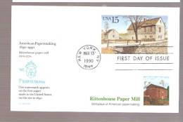 FDC Rittenhouse Paper Mill -  - Postal Card - 1981-1990