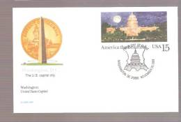 FDC America The Beautiful Washington D.C.  - Postal Card - First Day Covers (FDCs)