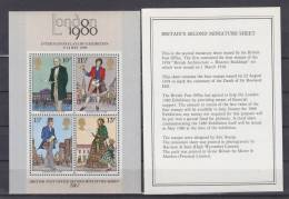 = Londres 1980 International Stamp Exhibition 6-14 May 1980 British Post Office Second Miniature Sheet - Blocks & Kleinbögen