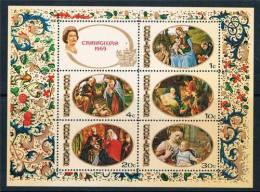 Isole Cook - 1969 - Nuovo - Foglietto Natale - Mi Block 5 - Christmas