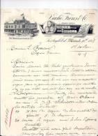 Entête  10/03/1888  -  LOS  ANGELES  (Etats Unis ) VACHE  Frères  -  Vins &  Liqueurs - United States