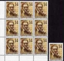 Mathematiker 2002 Jugoslawien 3060 Plus 9-Block ** 100€ Porträt Von J. Karamata Bf Bloc Sciences Sheetlet Of YUGOSLAVIJA - Computers