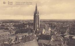 Belgium Bruges Panorama et Eglise Notre Dame