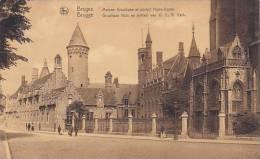 Belgium Bruges Maison Grouthuse et portail Notre Dame 1927