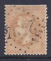 France, Scott # 32 Used Napoleon III,  Type 1, 1867, Trimmed Perfs - 1863-1870 Napoléon III Lauré