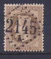 France, Scott # 34a Used Napoleon III, 1867 - 1863-1870 Napoleon III With Laurels