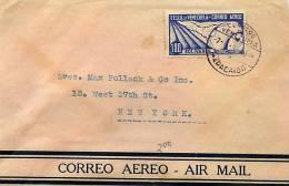 Lettre Avion Pour Les USA  I.80 Bolivares  Allégorie Du Vol - Venezuela