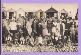 Carte Photo  -  Photo D'un Groupe De La Plage - J. Van Acklr - Cayeux Sur Mer (Somme) - Photos