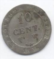 10 CENT  A L N   COURONNEE 1809 W - France