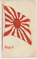 Japon Japanese Flag Hand Painted  WWI Guerre 1914 - Japón