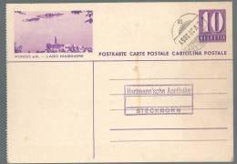 Entier Postal Ronco S/A Lago Maggiore  - Obl. Ambulant 02.05.1938 - 3851 - Interi Postali