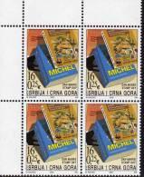 Tag Der Briefmarke 2003 Yugoslavia 3152 ER-Block ** 18€ PTT-,MICHEL-,WWF-catalogues Bloc Stamps Day Sheet Bf YUGOSLAVIJA - 1992-2003 République Fédérale De Yougoslavie