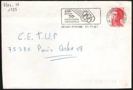 FRANCE GRENOBLE 1987 - 20th ANNIVERSARY OF OLYMPIC WINTER GAMES GRENOBLE 1968 - MAILED ENVELOPE - Inverno1968: Grenoble