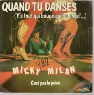 """45 Tours SP - MICKY MILAN  - SALSOUL 040100  """" QUAND TU DANSES """" + 1 - Autres - Musique Française"""