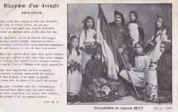 MILTAIRE  CHANSON RECEPTION D' UN AVEUGLE CARTE PATRIOTIQUE - Oorlog 1914-18