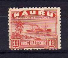 Nauru - 1924 - 1½d Definitive (Rough Surfaced Paper) - MH - Nauru
