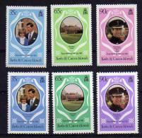 Turks & Caicos Islands - 1981 - Royal Wedding (Perf 14 & Perf 12) - MNH - Turks & Caicos (I. Turques Et Caïques)