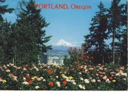 PORTLAND, OR 18.8.88 - View Of Portland, Mount Hood Seen From Washington Park Rose Gardens - Portland