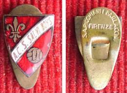 Italy - Calcio -  Football / Soccer - A.C. S.  SALVI BOYS,  Enamel Vintage Buttonholle Badge, Pin - Distintivo - Fútbol