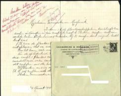 Berchem Ste Agathe / Sint Agatha Berchem / Brussel / Bruxelles / Av. De Koekelberg, Enveloppe + Brief 1941 - Historical Documents