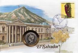 Numisbrief 1984 Numisletter Salvador #150 10C Porträt Plus Stamp 15C O 12€ Vögel Läufer WWF Birds Coins Cover Of America - El Salvador