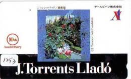 Télécarte JAPON PEINTURE * ART * PEINTURE De ESPANA (1253) TORRENTS LLADO  * PHONECARD JAPAN - Pintura