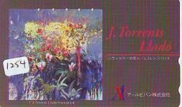 Télécarte JAPON PEINTURE * ART * PEINTURE De ESPANA (1254) TORRENTS LLADO  * PHONECARD JAPAN - Pintura