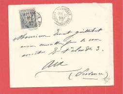 Lettre N° 90 Obl MARSEILLE Cours Du Chapitre - Storia Postale