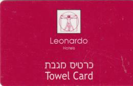 ISRAEL - Leonardo, Hotel Towel Card, Used - Cartas De Hotels