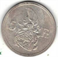 LUXEMBOURG KM 38 1929 5fr SILVER. (PD16) - Lussemburgo