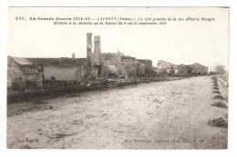 CPA : 88 : Laumont : Côté Gauche De La Route De Revigny Détruit En Septembre 1914 - Guerre 1914-18
