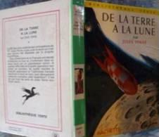 De La Terre à La Lune Jules Verne Bibliothèque Verte Ill.Reschofsky Hachette 1959 Brodard&Taupin+ Matteis - Livres, BD, Revues