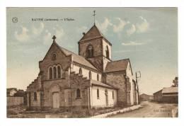 CPA :  08 Ardennes : Hauviné : L' Eglise ( Colorisée ) - France