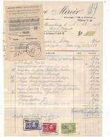Mariembourg - 1929 - Gustave Miroire - Automobile- Garage Mont Plaisir + Récépissé De - Cars