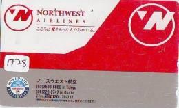 Télécarte Japon * NORTHWEST AIRLINES (1728) Japan Phonecard Airplane Flugzeug Avion * AVION - Airplanes