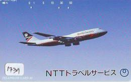 Télécarte Japon * BRITISH AIRWAYS (1739) Japan Phonecard Airplane * Flugzeug Avion * AVION * AIRLINES * 110-162955 - Avions