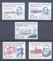 1990/2 ** (sans Charn., MNH, Postfrish) # Yv.197/8 209/0 215  Mi./ Fac. 209/0 221/2 227 Personnalilitès Groenlandaises - Collections, Lots & Series