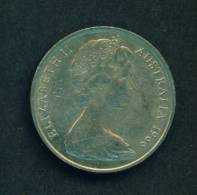 AUSTRALIA  -  1966  20 Cents  Circulated As Scan - Decimal Coinage (1966-...)
