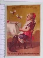 Chromo Fin 19e S /  Brasserie Du Quartier Latin  /enfant Fille Table Repas / Chien Abeille / Ne Boudez Pas Contre Ventre - Autres