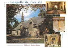 PONT AVEN   LA CHAPELLE DE TREMALO  EXTERIEUR ET INTERIEUR  STATUE DU CHRIST  MULTIVUES SCANS RECTO VERSO - Pont Aven