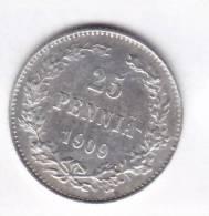 @Y@   FINLAND   25  Pennia 1909  Zilver / Ag     (1970) - Finlande