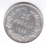 @Y@   FINLAND   25  Pennia 1909  Zilver / Ag     (1971) - Finlande