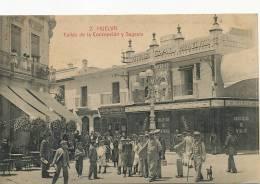 Huelva  Calles Concepcion Y Sagasta Pub Petroleo Para El Pelo Coiffeur - Huelva