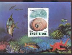 MINT NEVER HINGED SOUVENIR SHEET OF FISH-MARINE LIFE  #   451  ( KOREA DPR  3361 - Vissen