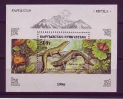 Kirghisztan YV BF 14 N 1996 Lézards Papillon - Reptiles & Batraciens